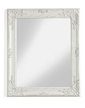 MONTEMAGGI Miroir mural rectangulaire avec cadre en bois blanc