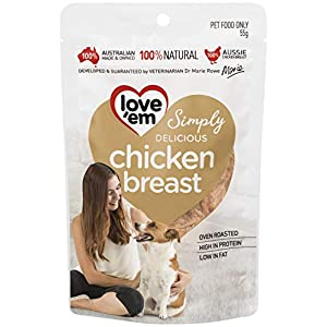 Love 'Em Chicken Breast Dog 55g, Small and Medium, Puppy Click on image for further info.