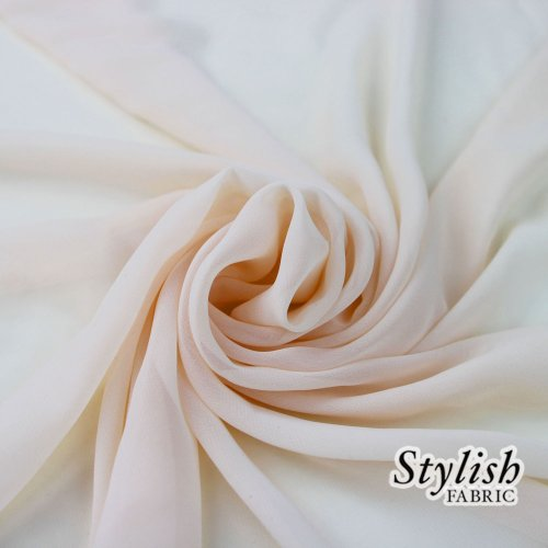 58'' BLUSH Solid Color Sheer Chiffon Fabric by the Bolt - 25 Yards by Stylishfabric (Image #1)