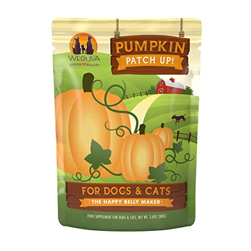 Weruva Pumpkin Patch Up!, Pumpkin Puree Pet Food Supplement for Dogs & Cats, 2.80oz Pouch (Pack of 12)