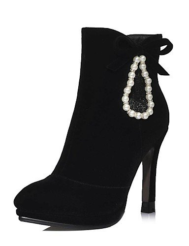 De Stiletto Tacón Xzz Botas us5 Vellón Negro Black Eu39 Uk3 Cn39 Black Eu35 A Rojo Moda Vestido Mujer Cn34 us8 Puntiagudos La Uk6 Zapatos FtwtI5