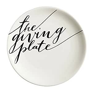 Cypress Home The Giving Plate 12-inch Ceramic Serving Platter