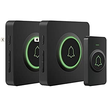 Wireless Doorbell AVANTEK DB-12 Waterproof Door Chime Kit Operating at Over 1300 Feet with 2 Plug-In Receivers 52 Melodies 5 Volume Levels ...  sc 1 st  Amazon.com & Wireless Doorbell White with 1 Push Button Transmitter and 2 Plug-In ...