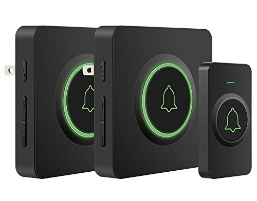 - Wireless Doorbell, AVANTEK DB-12 Waterproof Door Chime Kit Operating at Over 1300 Feet with 2 Plug-In Receivers, 52 Melodies, 5 Volume Levels, CD Quality Sound and LED Flash