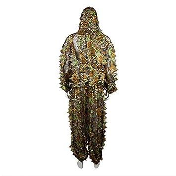 2 piezas de ropa de caza hojas camuflaje Ghillie traje para hombres y mujeres Woodland: Amazon.es: Bricolaje y herramientas