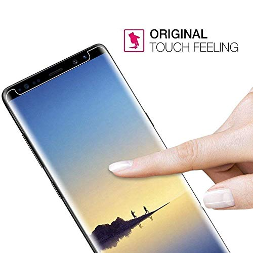 [2 Pack] Galaxy S8 Screen Protector, StinkLight Tempered Glass, [Case Friendly] [Anti-Scratch] [Anti-Fingerprint] [Bubble Free]