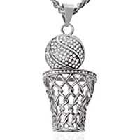Tagoo Men's Titanium Steel Pendant Necklace Powerlift Bullet Cross Ring Heart Anchor Skull Ring Lovers Statement Adjustable Boys Jewelry