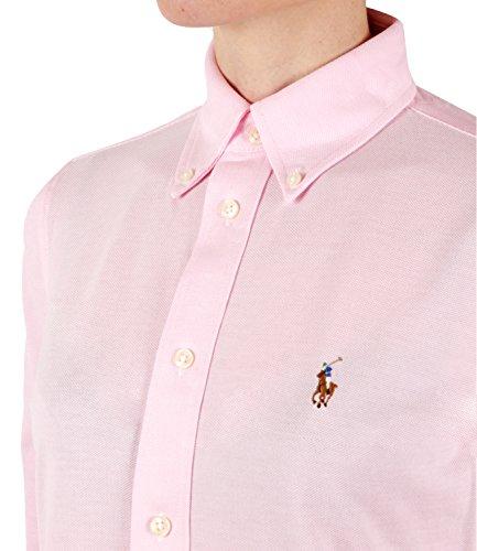 Coton Piqu Ralph Femme Lauren en Polo pour Rose Chemise Rose wfnqF6xR