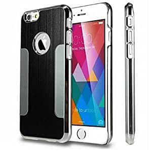 DD Electroplating Brushed Metal PC Hard Case for iPhone 6 Plus(Assorted Colors) , Black