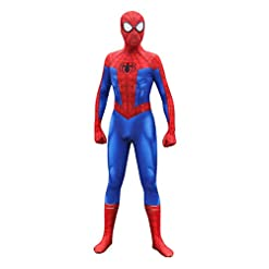 Unisex Spandex Zentai Halloween Into The Spideverse Cosplay Costumes Suit Adult/Kids 3D Style