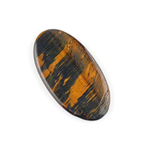 Jaguar Gems 76 Carats Natural Tiger Eye Cabochon Gemstone and Crystals, DIY Jewelry Making Supplies, Tiger Eye Gems