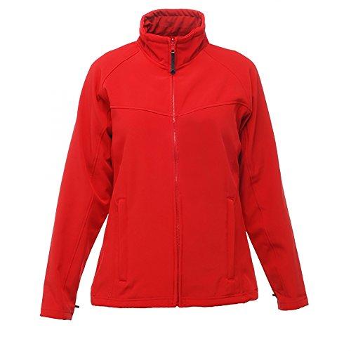 Clásico Resistente Viento Chaqueta para Mujer Regatta al Softshell Gris Rojo f8qwTEAF
