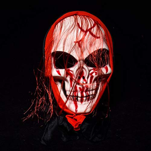 SKSNBMJ Horror Mask Halloween Ghost Festival Horror Long Hairpin Mask Party Performance Props 3,B]()