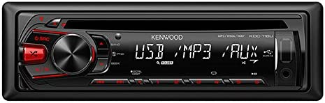 Kenwood KDC-118U In-Dash 1-DIN CD AUX USB MP3 AM FM Car Audio Receiver Stereo