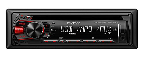 Kenwood KDC-118U In-Dash 1-DIN CD AUX/USB MP3 AM/FM Car Audio Receiver Stereo
