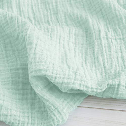 Sugar House Shop Premium 100% Imported Cotton,Muslin Fabric Swaddle Blanket, Many Colors, for Infants and Toddlers, 47in x 47in, 8oz, Mint