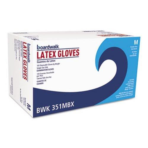 Boardwalk Powder-Free Latex Exam Gloves, Medium, Natural, 4 mil, 1000/Carton by Boardwalk