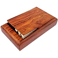 FashionFrame Handmade Wooden Pocket Cigarette Case Holder