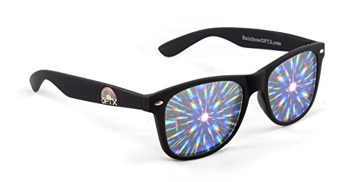 Rainbow OPTX Intense Prism Diffraction Glasses (Matte - Cool Glasses Black