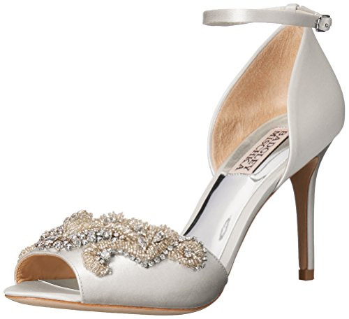 Badgley Mischka Women's Barker Heeled Sandal - White - 6 ...