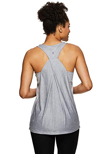 - RBX Active Women's Racerback Twist Back Workout Yoga Tank Top S.19 Grey M