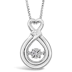 Dancing Diamond Necklace in Sterling Silver