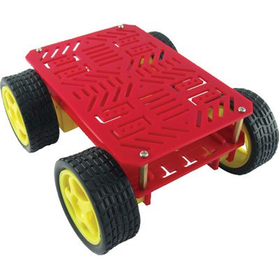 DAGU HI-TECH ELECTRONICS DG008 Drive Robot Chassis with Motors, 3 Volt, 10 RPM, 4 Wheel -