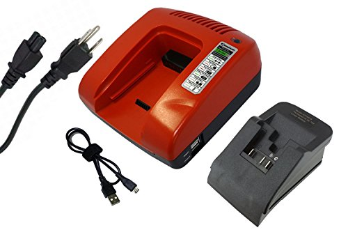 Charger For Dewalt DCF880M2, DCF883B, DCF883L2, DCF883M2, DCF885, DCF885B, DCF885C2 Power & Hand Tools Battery (Red) -  Shipped from and sold by battery_king, DCB182, DCB183, DCB185, DCB200, DCB201