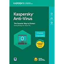 Kaspersky Anti-Virus 2018 3 Dispositivo/1 año [Código de tecla] (3-users)