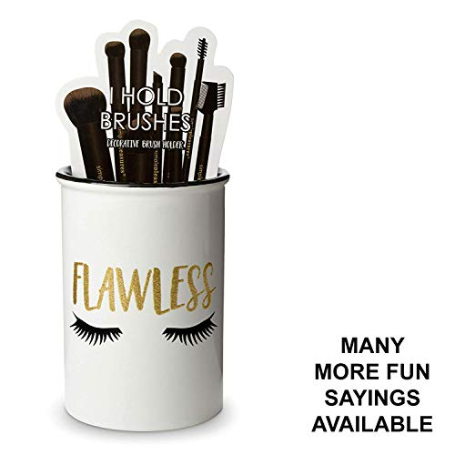 Tri-coastal Design Ceramic Makeup Brush Holder Storage