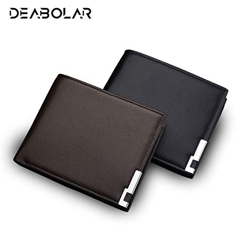Amazon.com: 2017 Fashion Simple Classic Mens Business Leather Wallet Brand Card Holder Male Carteras Purses Wallets for Men: Kitchen & Dining
