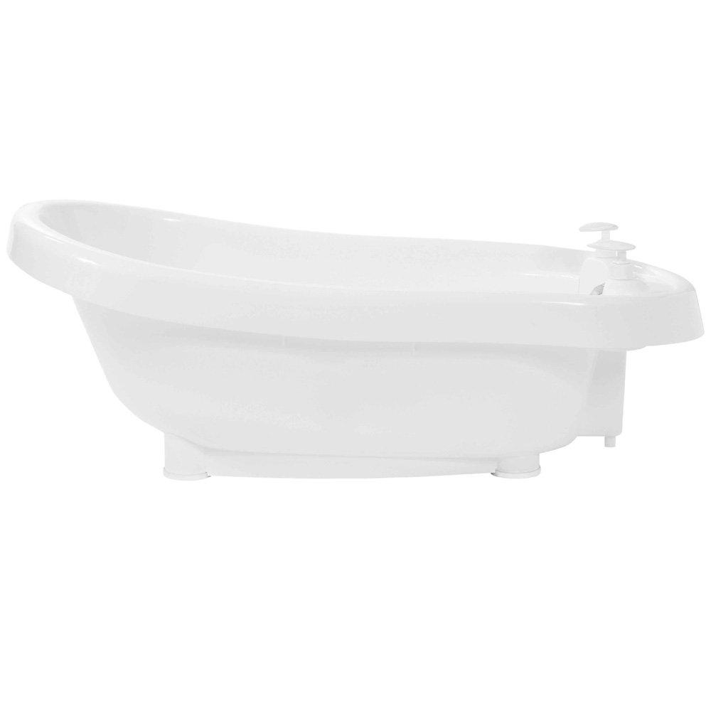 Bébé-Jou Termobath Click - Bañera con dosificadores y termómetro incorporado, color blanco