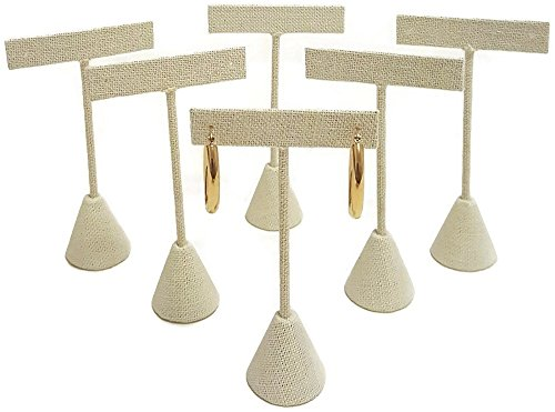 T- Shape Style Earring Display Linen 4.75