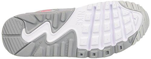 Nike Air Max 90 Mesh Gs, Scarpe da Corsa Bambina, Multicolore (Pure Platinum Grey Racer Pink White), 35.5 EU
