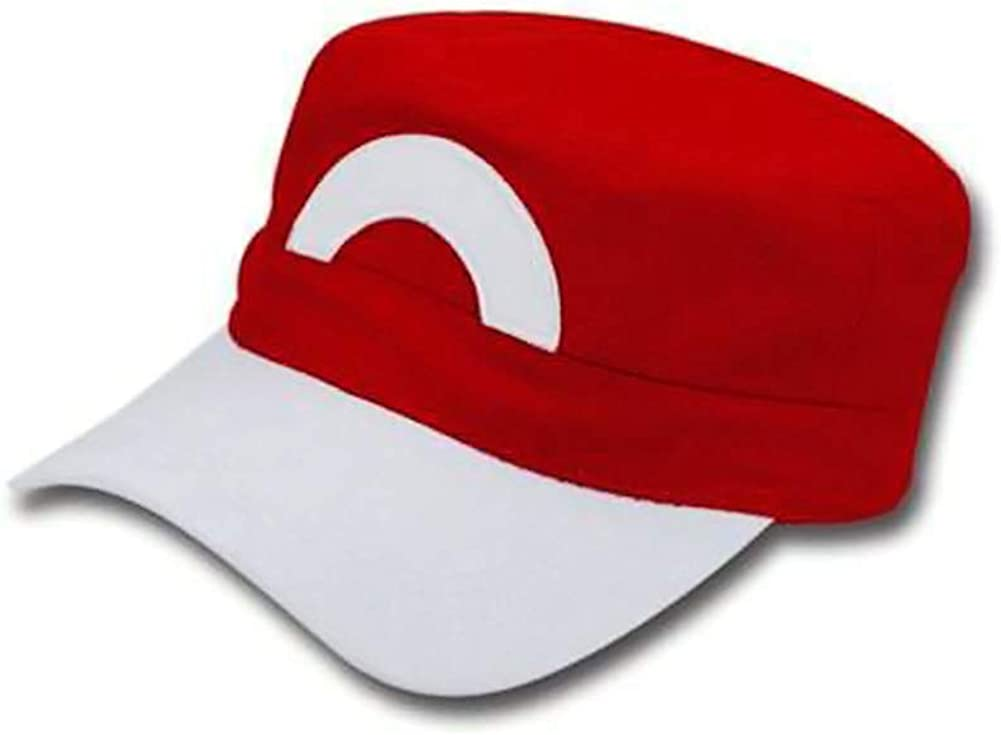 Pokemon Trainer Satoshi ASH KETCHUM Embroidered Anime Cotton Hat Cosplay Cap