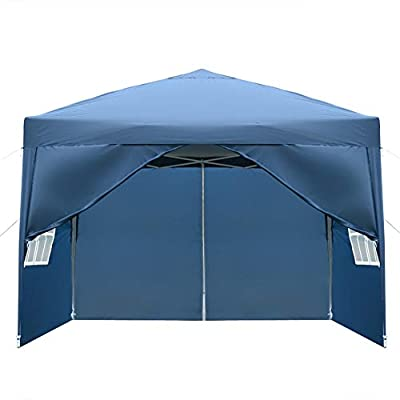 Newzeroin Canopy Tent Commercial Instant Shelter with 4 Removable sidewalls 2 Doors and 2 Windows Practical Waterproof Right-Angle Folding Tent with Carry Bag : Garden & Outdoor