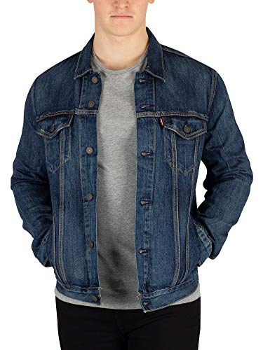 (Levi's Men's The Trucker Jacket, Blue, Medium)