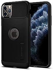 Capa iPhone 11 Pro Max Spigen Slim Armor Black, Spigen, Capa Anti-Impacto, Preto