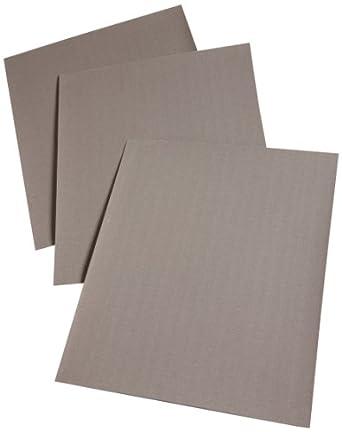 "3M Cloth Sheet 211K, Cloth Backing, Aluminum Oxide, 11"" Length x 9"" Width, 320 Grit, Black (Pack of 50)"
