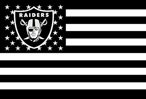 NFL Oakland Raiders Stars and Stripes Flag Banner   3x5 FT, White ()