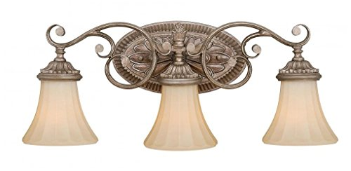 Vaxcel W0156 Avenant 3 Light Vanity Light, French Bronze - Lighting French Wall