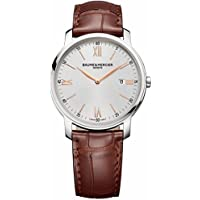 Baume And Mercier 'classima' Silver Dial Brown Leather Ladies Watch