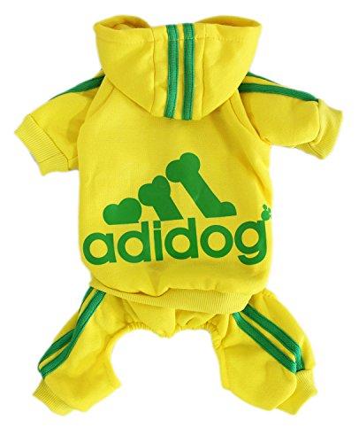 Uniform Costumes Nfl Vikings (Scheppend Adidog Pet Clothes for Dog Cat Puppy Hoodies Coat Winter Sweatshirt Warm Sweater,Yellow)