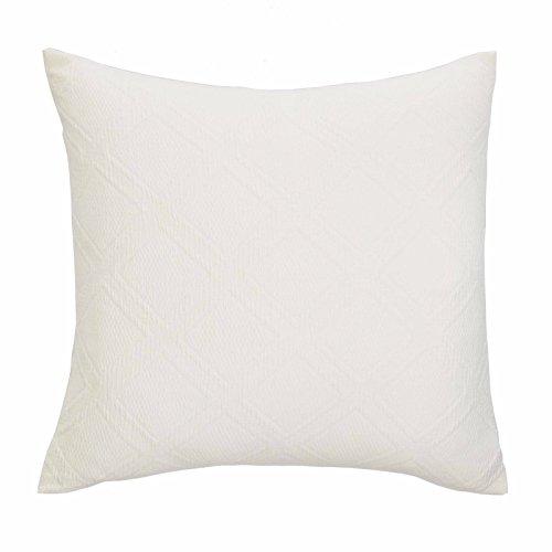 Nautica Haverdale White Matelasse European Euro Pillow Sham - Ivory White