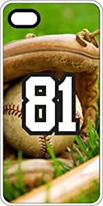 Baseball Sports Fan Player Number 81 White Plastic Decorative iphone 6 4.7 Case