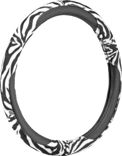 zebra print steering wheel cover - 1