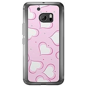 Loud Universe HTC M10 Love Valentine Printing Files Valentine 122 Printed Transparent Edge Case - Pink/White