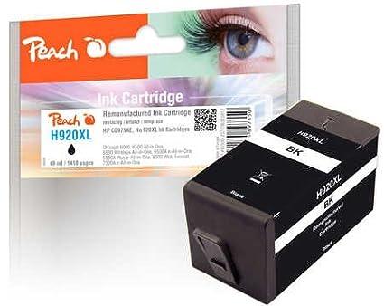 Cartucho de Tinta Negra Original con Chip, Compatible con HP CD975AE, No. 920XL