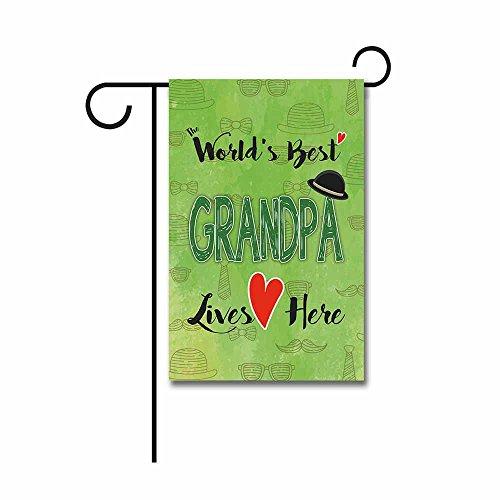 KafePross The World Best Grandpa Lives Here Garden Flag 12.5