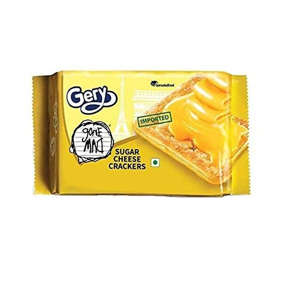 Gone Mad Gery Sugar Cheese Crackers, Ideal Biscuits/Snacks for Kids-110 gm x 2 Packets